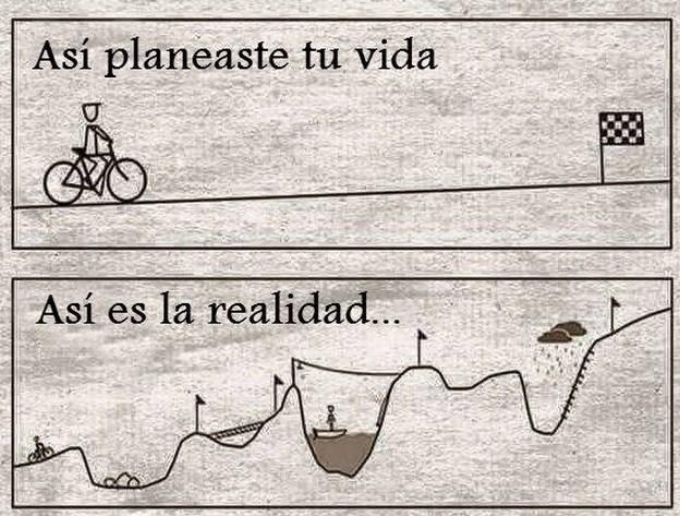 Asi se planea la vida, asi es la realidad