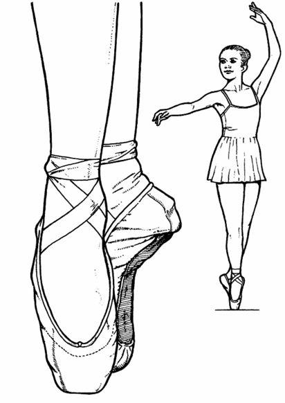 Bailarina de danza para colorear