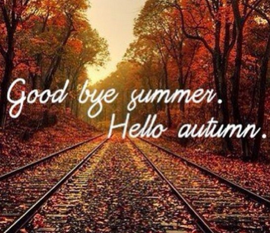 Bienvenido otoño con frases en ingles