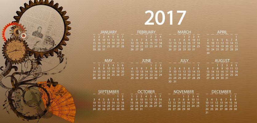 Calendario 2017 de bolsillo