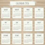 Calendarios 2016 para imprimir