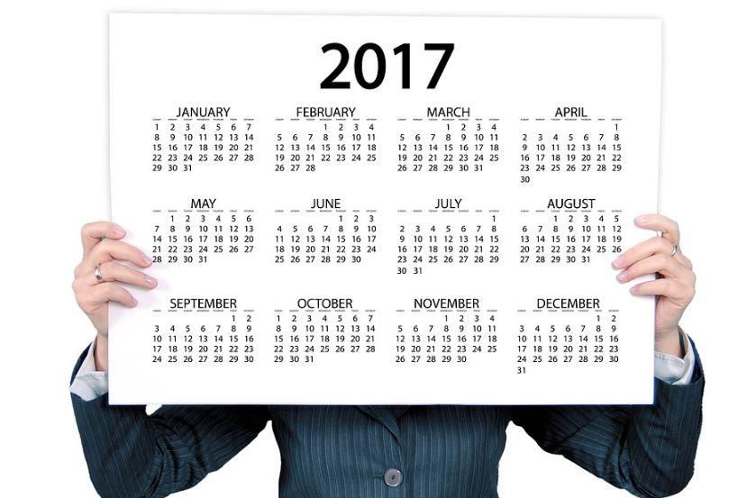 Calendarios 2017 grandes para imprimir