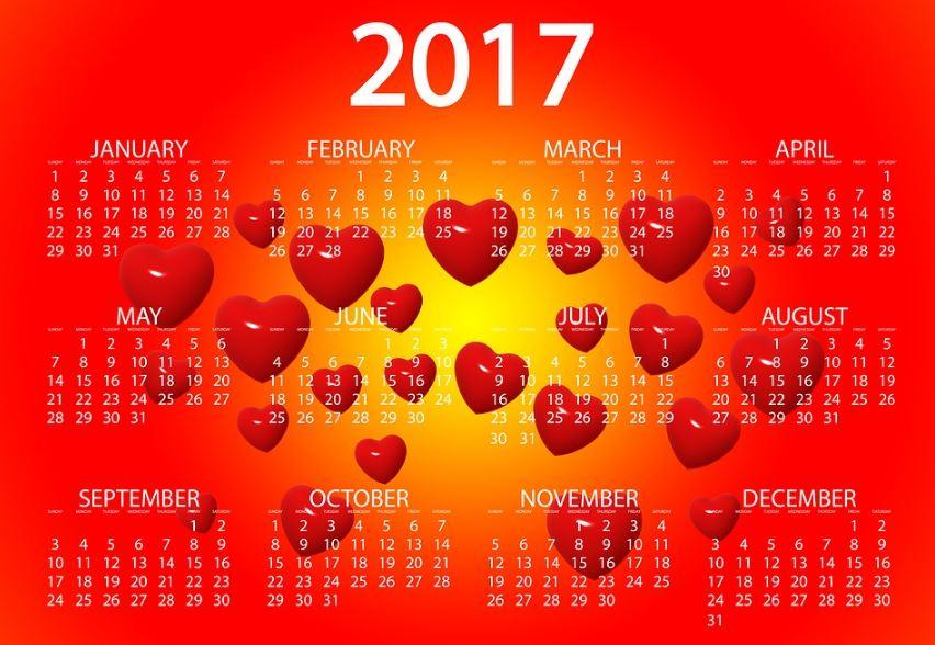 Calendarios 2017 gratis