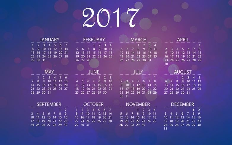 Calendarios de bolso 2017