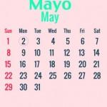 Calendarios mayo 2016