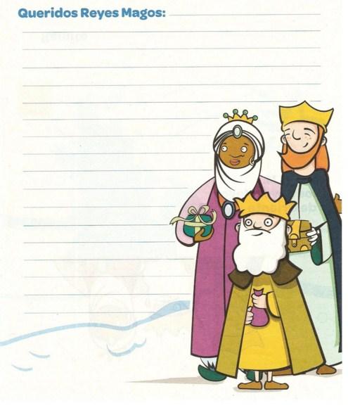 Cartas a los reyes magos para imprimir