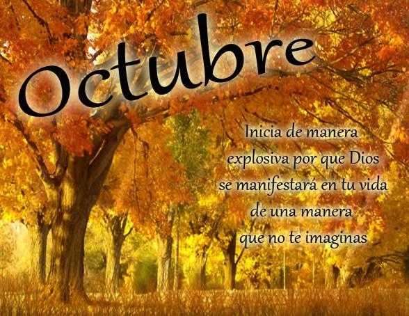 Carteles con bienvenido octubre