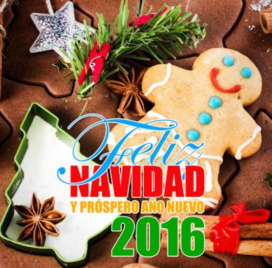 Carteles de feliz navidad y prospero año nuevo 2016