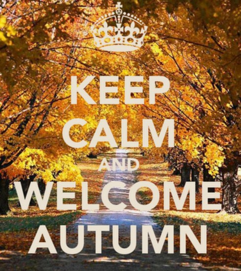 Cartelitos para otoño keep calm and welcome autumn
