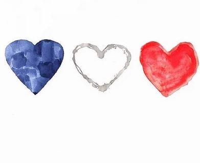 Corazones de luto Francia
