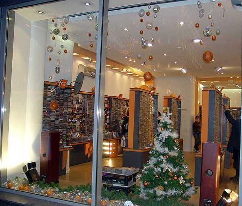 Decoracion de vidrieras para navidad