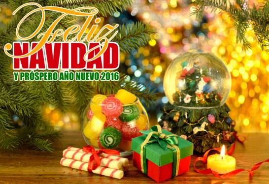 Desear feliz navidad y prospero 2016