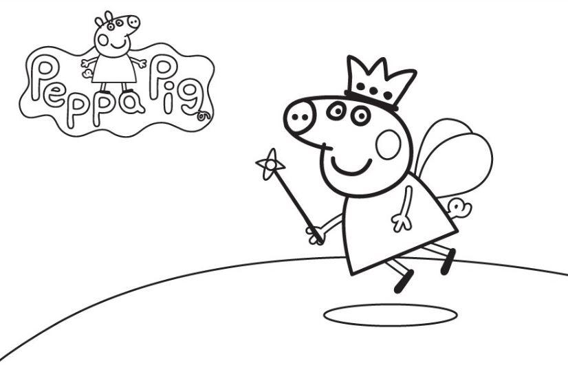 Dibujos de Peppa Pig para pintar gratis