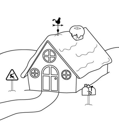 Dibujos de casas con chimenea para niños