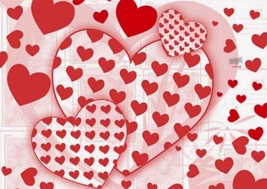 Dibujos de muchos corazones