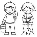 Imagenes de niños para colorear