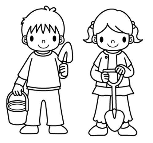 Dibujos de niños para imprimir y colorear