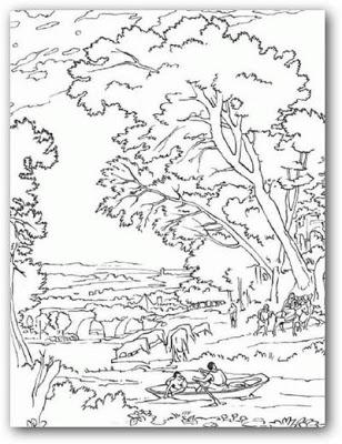 Dibujos de paisajes para imprimir y colorear
