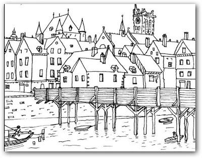 Dibujos de paisajes para pintar