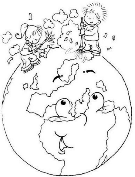 Dibujos del dia mundial de la tierra para pintar