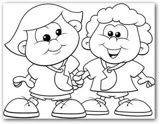 Dibujos para colorear de amistad