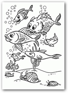Dibujos para pintar animales del fondo del mar