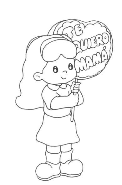 Dibujos para regalarle a mama para colorear