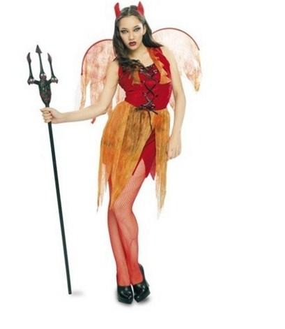 Disfraz de diablita para halloween