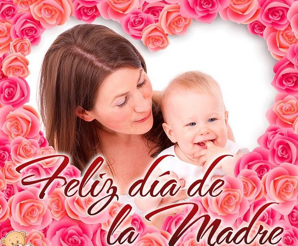 Feliz día de la madre con rosas