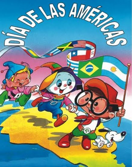 Feliz dia de las americas para niños pequeños