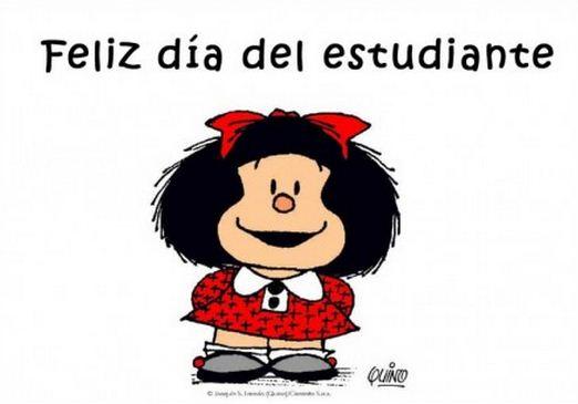 Feliz dia del estudiante con Mafalda