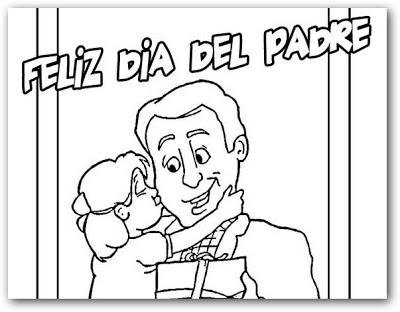 Feliz dia del padre para imprimir y colorear