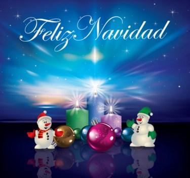 Feliz navidad con muñecos de nieve