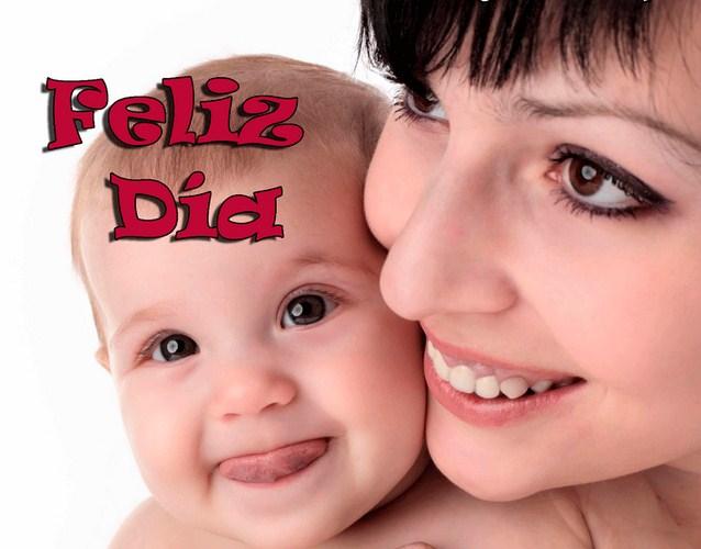 Fotos de bebés y mamás feliz dia