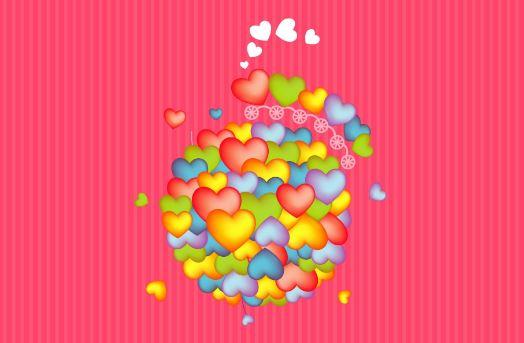 Fotos de corazones de colores