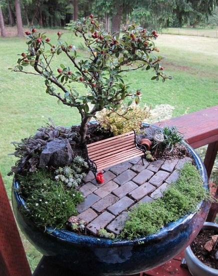 Fotos de mini jardines con bonsai