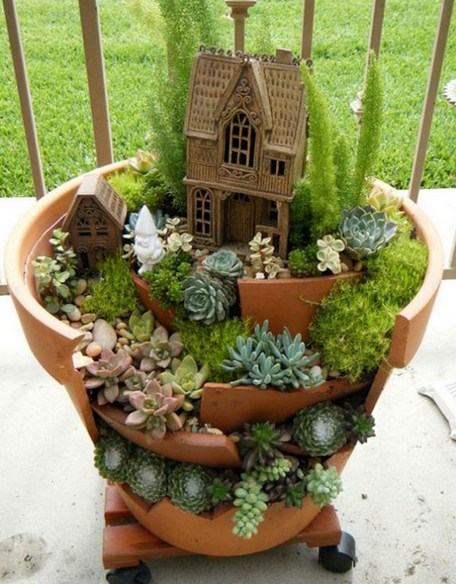 Fotos de mini jardines sobre ruedas