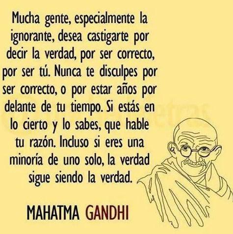Frases de Mahatma Gandhi para compartir