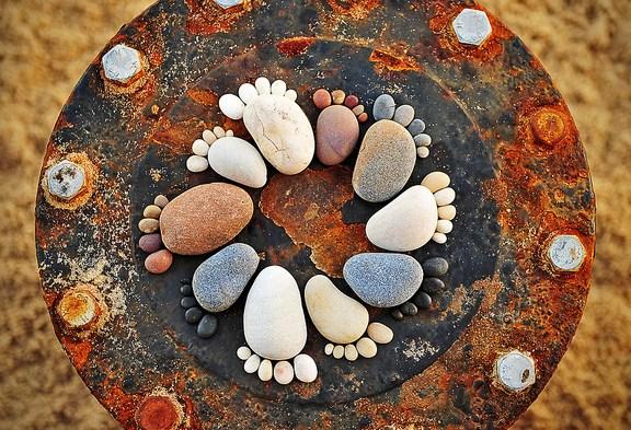 Huellitas de piedra
