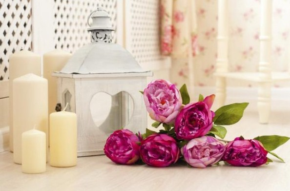 Ideas para decorar baños con velas