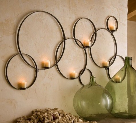 Ideas para decorar paredes con velas