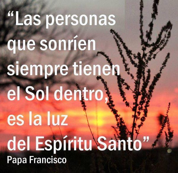 Imágenes con frases del Papa Francisco y el Espíritu Santo
