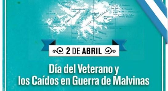 Imagen del 2 de abril dia de las Malvinas veteranos y caidos en la guerra
