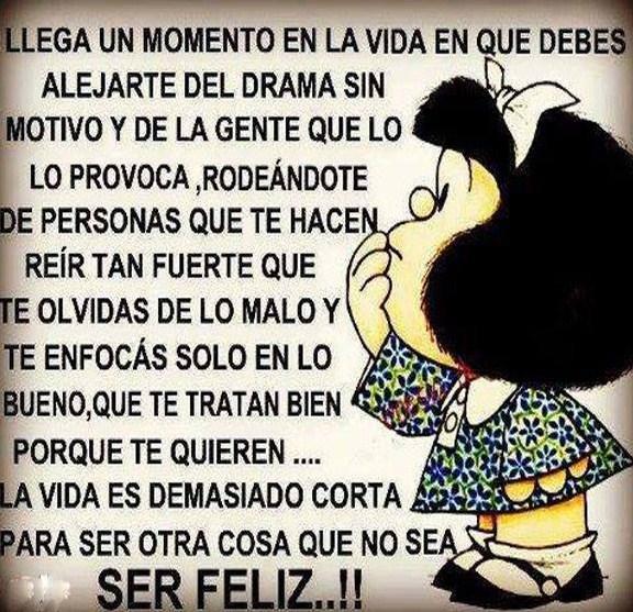 Imagenes con Mafalda sobre ser feliz