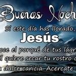 Imagenes con frase de buenas noches con Jesus