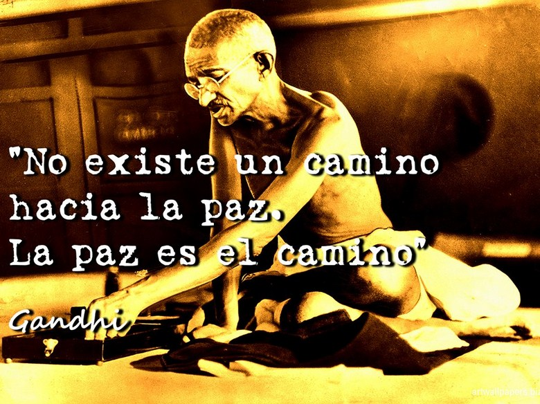 Imagenes con frases de Gandhi