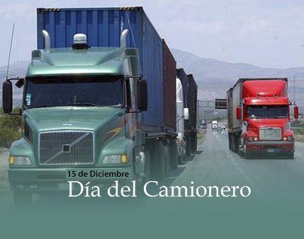 Imagenes con la frase feliz día del camionero