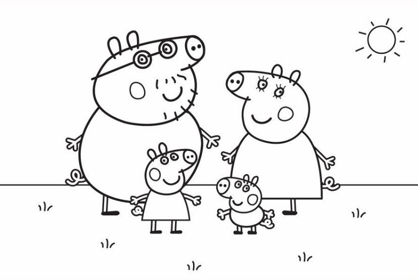 Imagenes de Peppa Pig para colorear