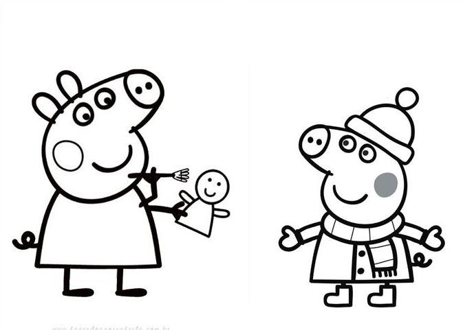 Imagenes de Peppa Pig para pintar