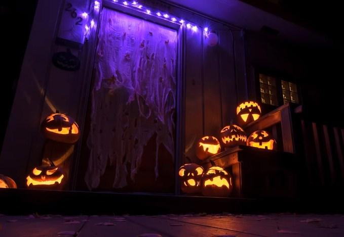 Imagenes de calabazas con luces para Halloween